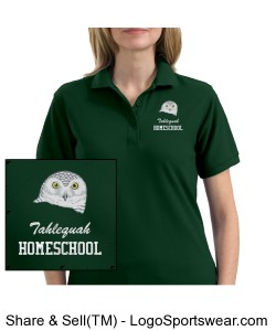 Tahlequah Homeschool Ladies Silk Touch Polo Design Zoom